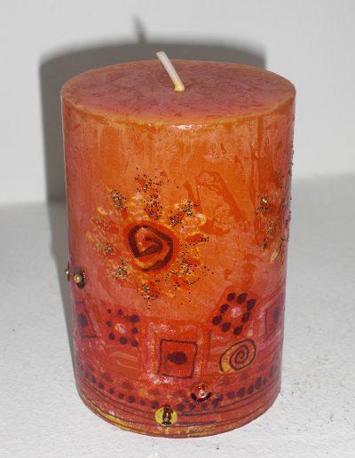 Kerze Serviettentechnik Orange